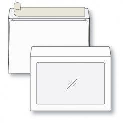 10 x 13 Full View Window Envelope in White Kraft
