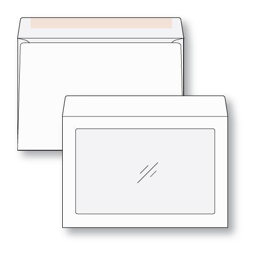 9 x 12 full view window envelope with regular gum
