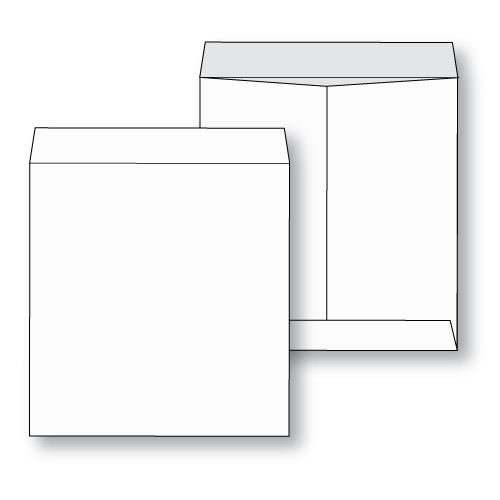paper flat jumbo white kraft envelope