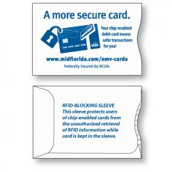 RFID credit card sleeves protect your identity information stored on smart chip cards