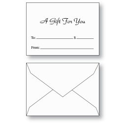 Stock Printed Gift Card Envelopes