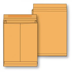 Paper expansion open end brown kraft regular gum