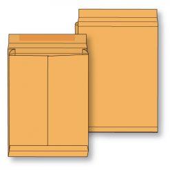Paper expansion open end brown kraft regular gum