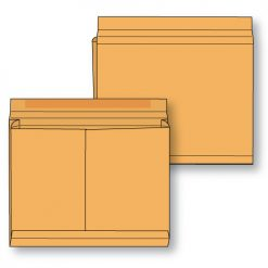 Paper expansion open side brown kraft regular gum