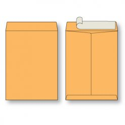 Paper flat brown kraft open end peel n seal envelope