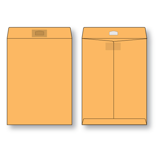 paper flat brown kraft open end peerless tac envelope