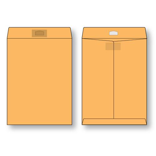 Paper Flat Brown Kraft Open End Peerless Tac Envelope