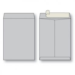 paper flat gray kraft open end peel n seal envelope
