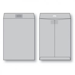 paper flat gray kraft open end peerless tac envelope
