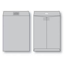 paper flat gray kraft open end peerless tac envelope