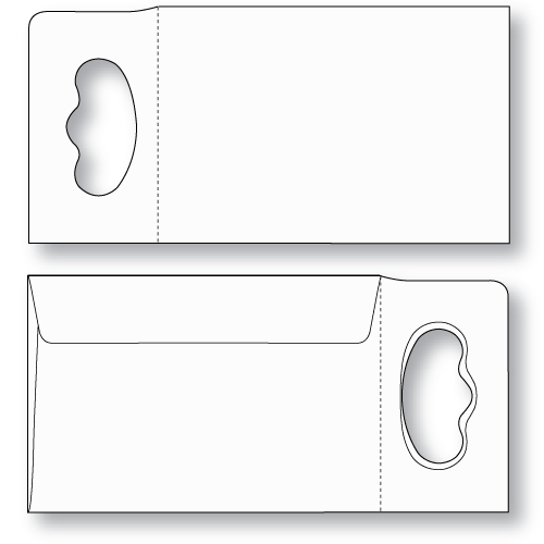 super size doorknob hanger envelope unprinted