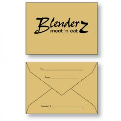 Gift Card Envelope Style B in Brown Bag Kraft paper