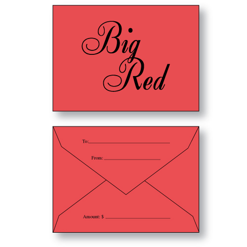 Gift Card Envelope Style B in Red Paper