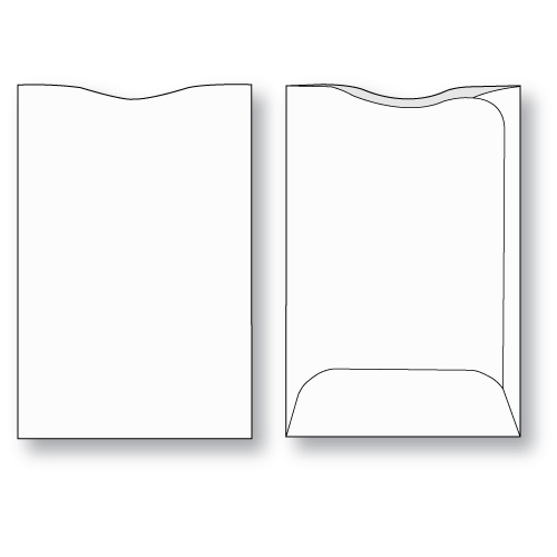 Paper credit card sleeve unprinted