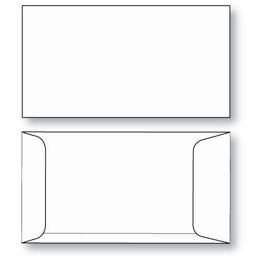 Ticket envelope 7 coin open end unprinted