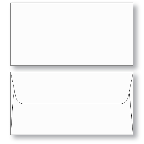 Ticket Envelope booklet style unprinted