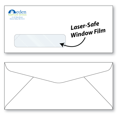 #10 laser safe window envelopes