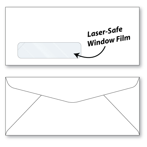 #10 laser safe window envelope unprinted