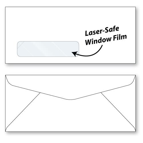 10 laser safe window envelopes unprinted sheppard envelope