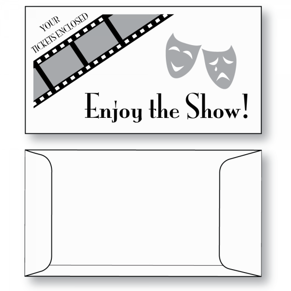 ticket envelope style b available plain or printed from stock as shown
