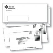 Commercial envelopes including #10 window, #9 business reply mail and 6-3/4 business reply mail custom printed