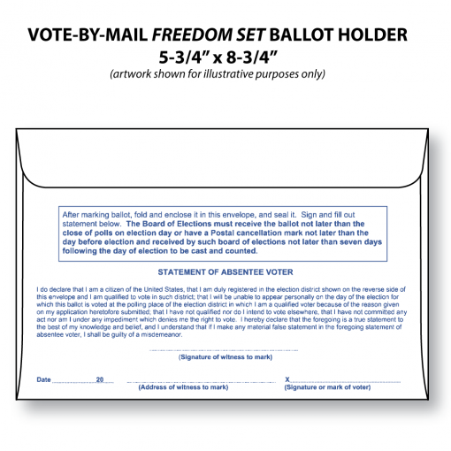 vote-by-mail freedom set bi-fold ballot holder envelope