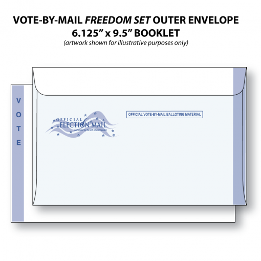 vote-by-mail freedom set bi-fold ballot outer envelope