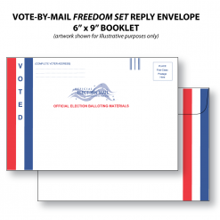 vote-by-mail freedom set bi-fold ballot reply envelope