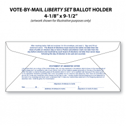 vote-by-mail liberty set ballot holder envelope