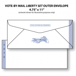 vote-by-mail liberty set ballot outer envelope