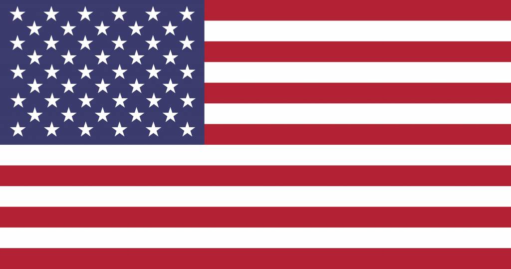 United States Flag in Red, White, and Blue