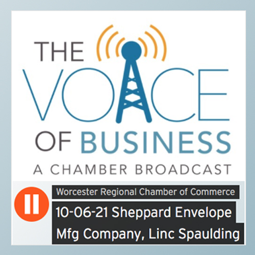 linc-spaulding-president-of-sheppard-envelope-speaks-with-hank-stolz-on-voice-of-business-a-worcester-chamber-broadcast